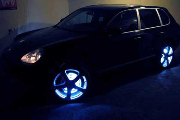Как сделать подсветку колес своими руками авто